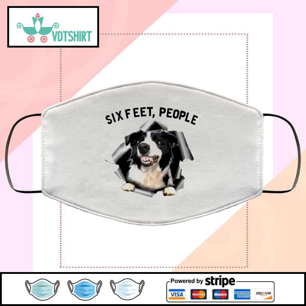 Border Collie 6 Feet People face mask