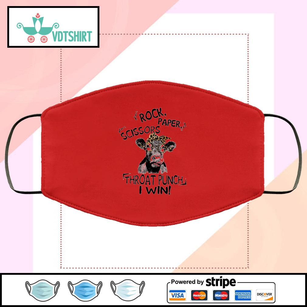 Cattle Rock paper scissors throat punch I win face mask face-mask-red-color