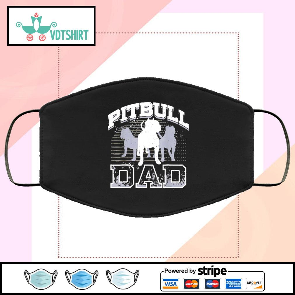 Dad Pitbull Lover Dog Owner Hooded face mask