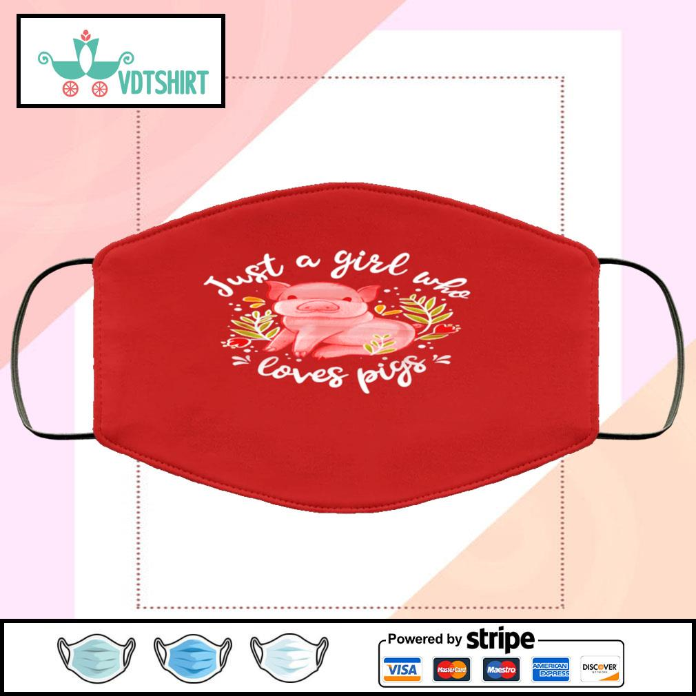 Just Girl Who Loves Pigs face-mask-red-color