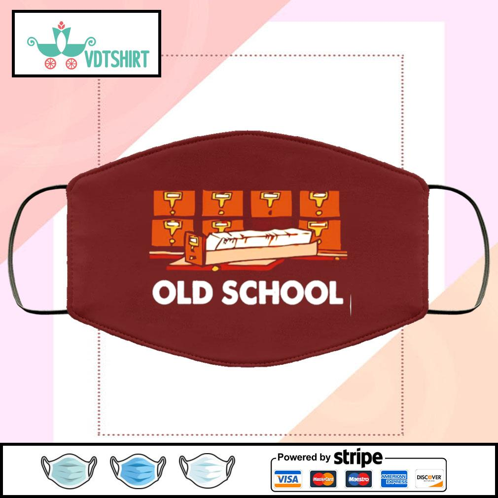 Librarian Old School face mask face-mask-chocolate-color