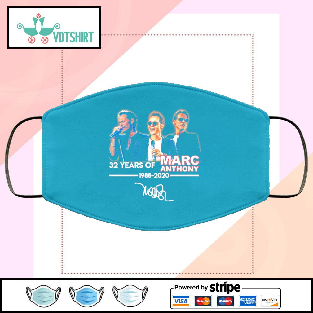 Marc Anthony 32 Years Of 1988 2020 Signature face mask face-mask-light-blue-color