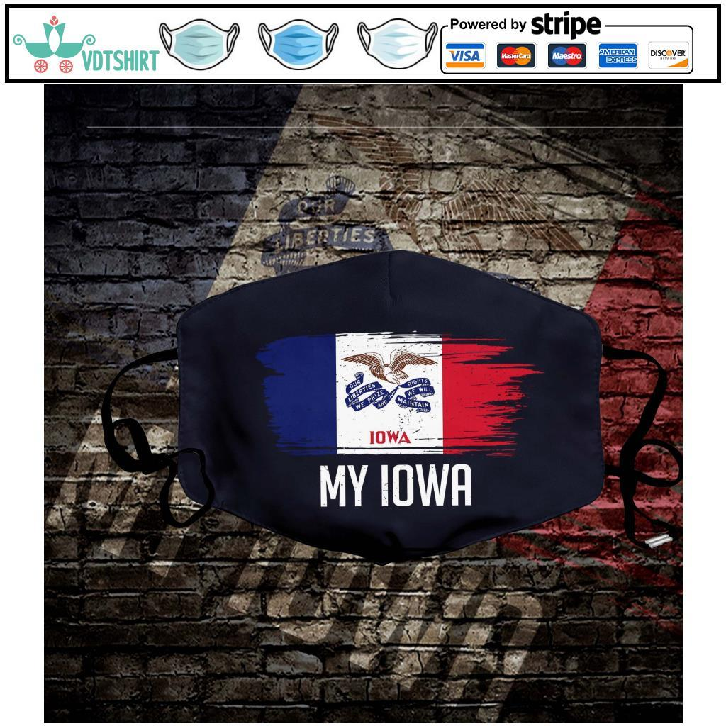 My Iowa Flag Face Mask