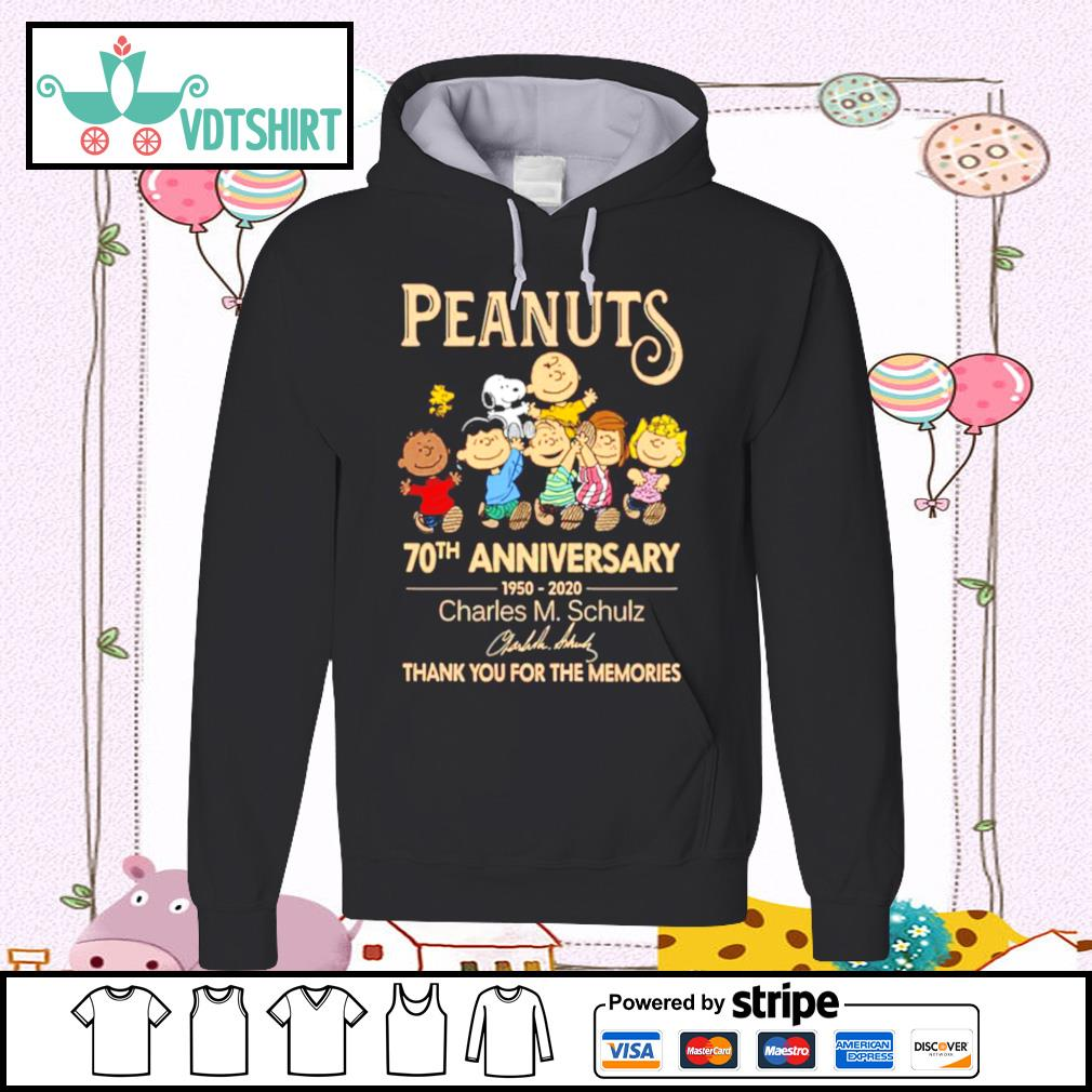 Peanuts 70th Anniversary 1950 2020 Charles M Schulz Snoopy s hoodie