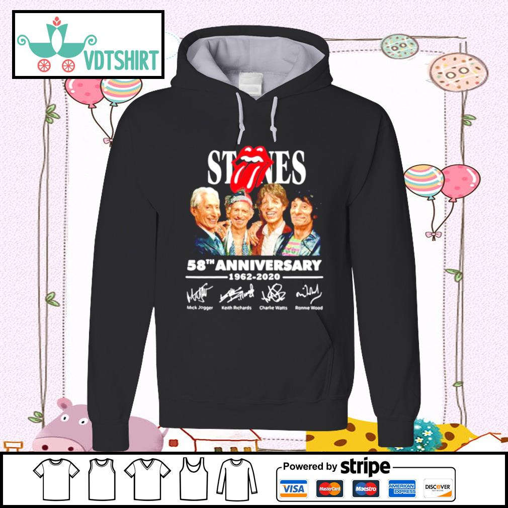 Rolling Stones 58th Anniversary 1962 2020 Signatures s hoodie