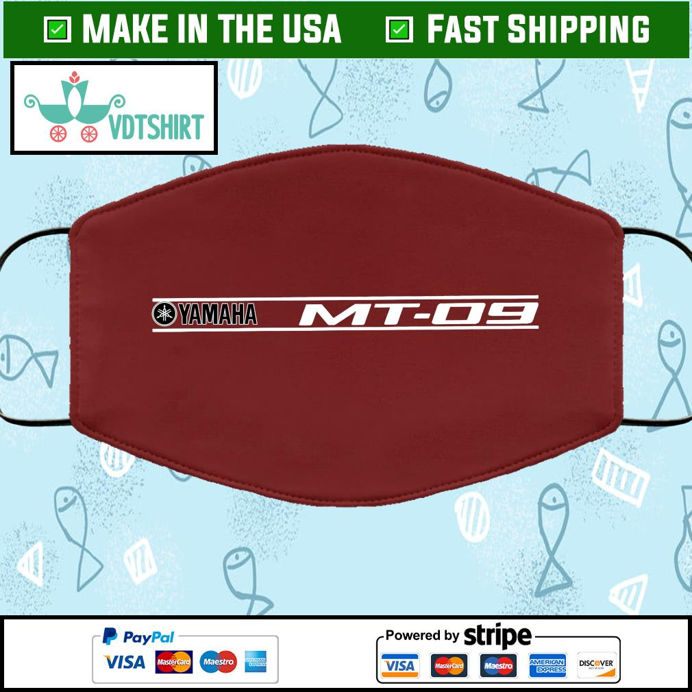 Yamaha MT09 Design Lite Cloth Face Mask Washable brown