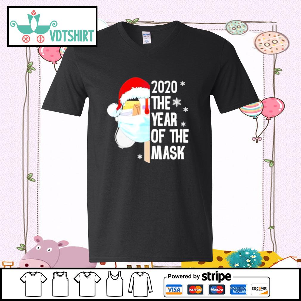 Mailbox Santa 2020 The Years Of The Mask Christmas s v-neck t-shirt