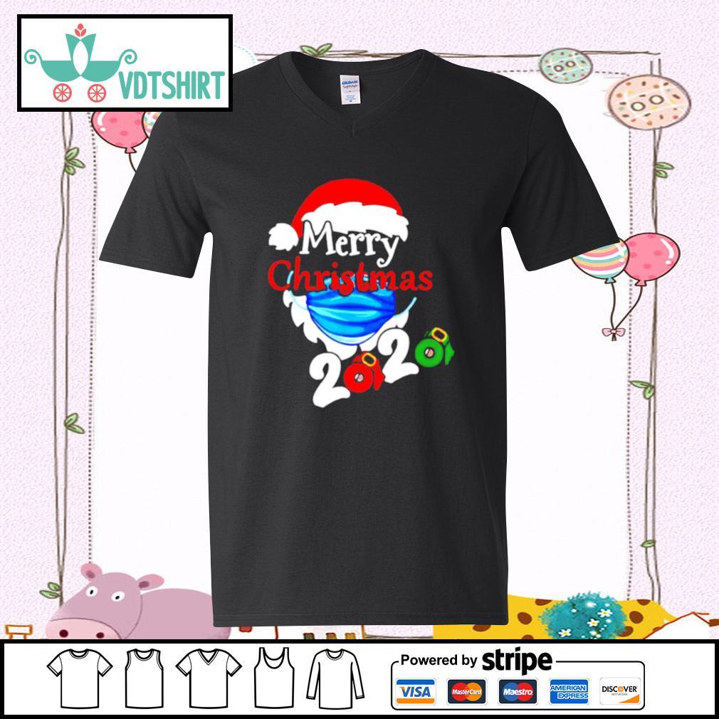 Merry Christmas 2020 Quarantine s v-neck t-shirt