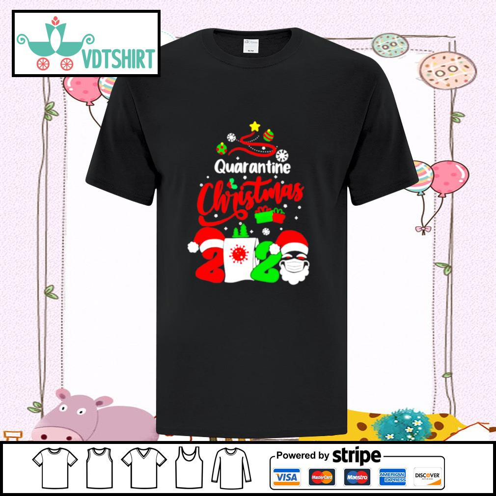 Quarantine Christmas 2020 Santa Claus Toilet Paper Tree shirt