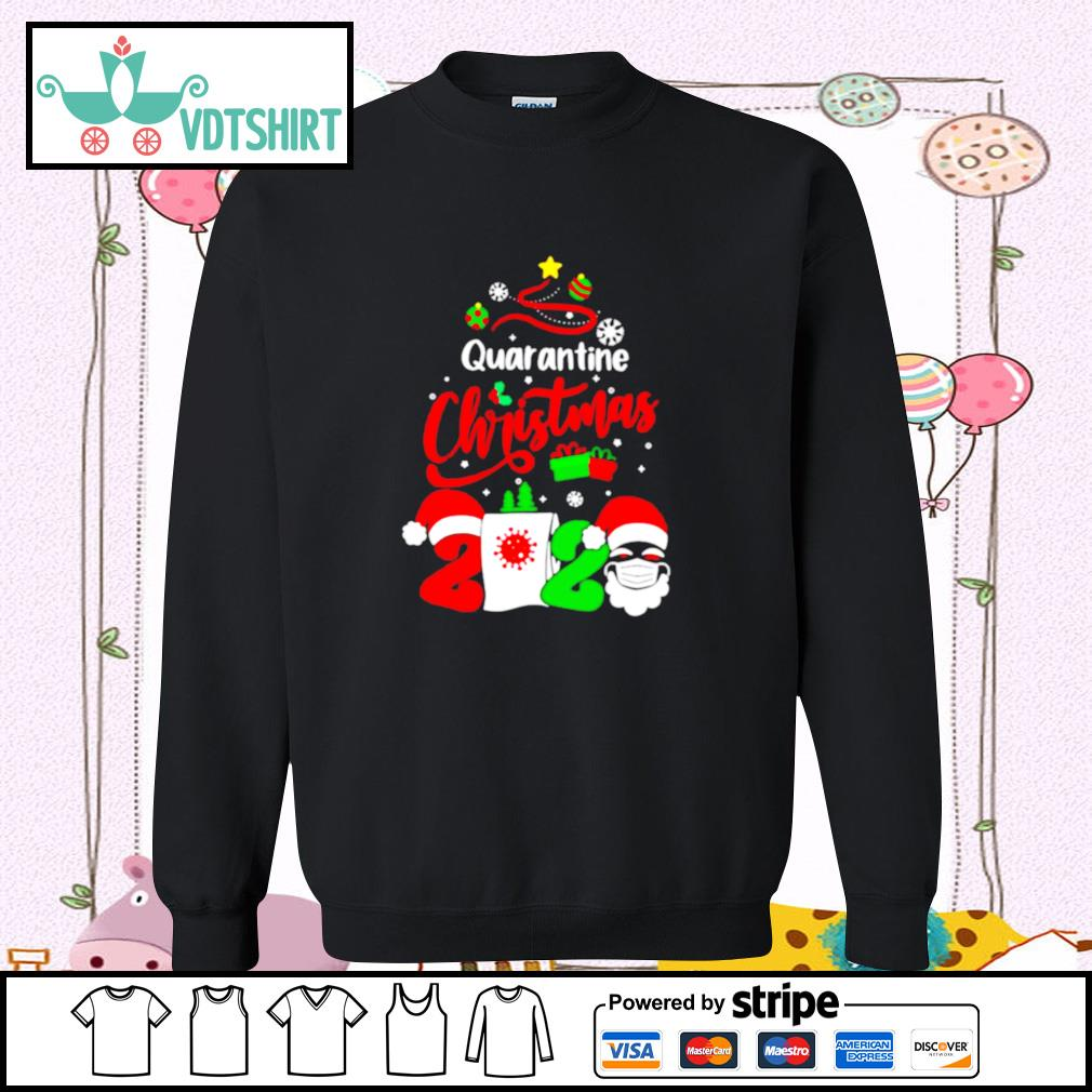 Quarantine Christmas 2020 Santa Claus Toilet Paper Tree s sweater