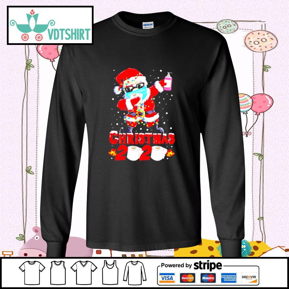 Santa Claus Dabbing Toilet Paper Merry Christmas 2020 s longsleeve-tee