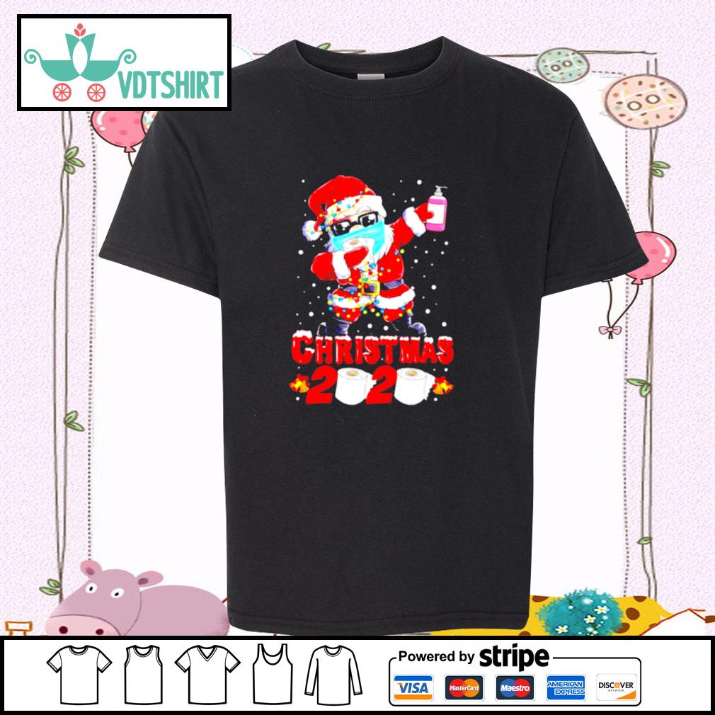 Santa Claus Dabbing Toilet Paper Merry Christmas 2020 s youth-tee