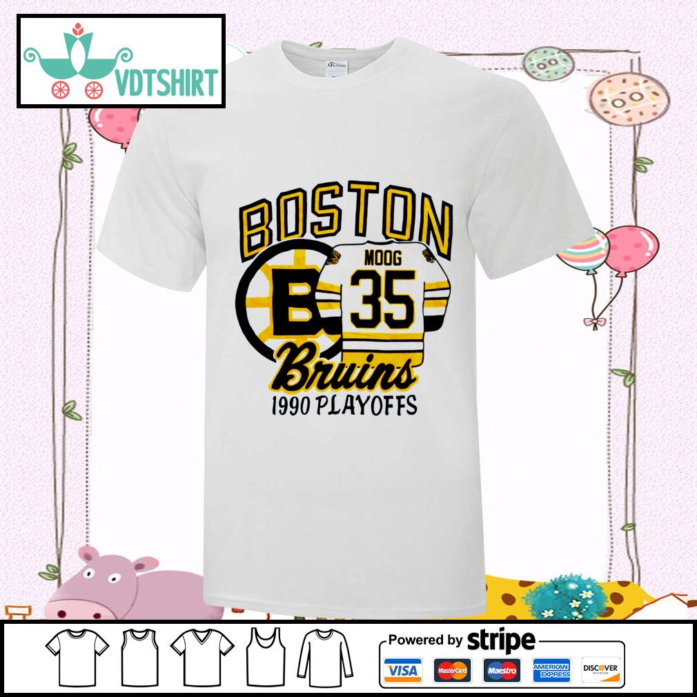 Boston Bruins 1990 playoffs shirt