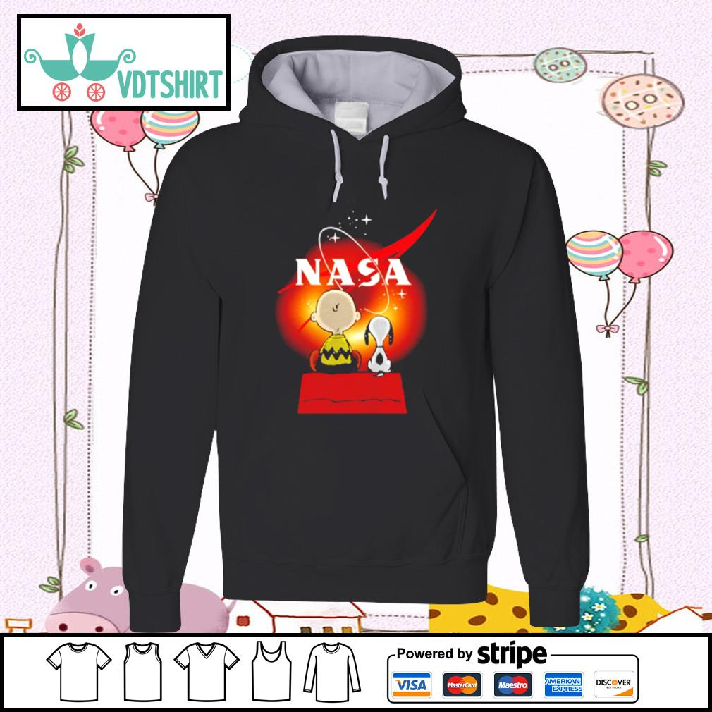 Snoopy And Charlie Brown Looking Black Hole Nasa Shirt hoodie